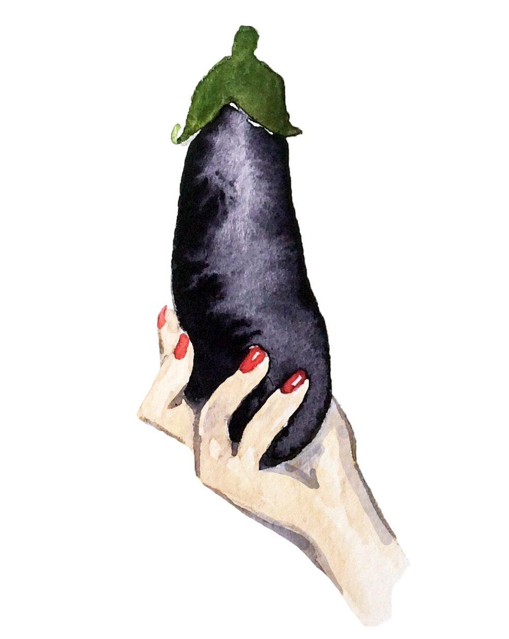 eggplant-penis-blow-job