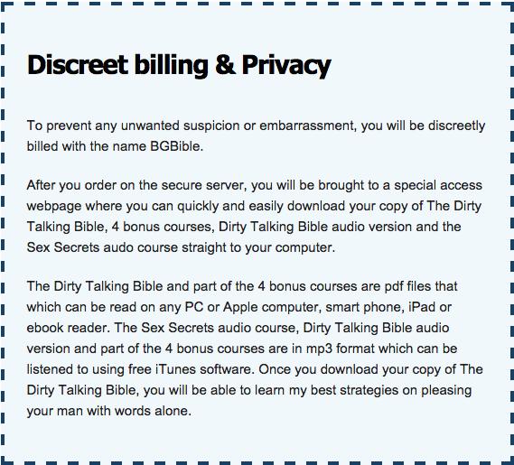 discreet-billing