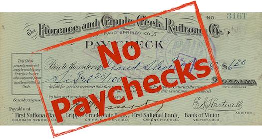 no paycheck