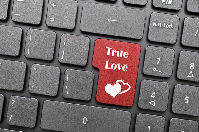 True love on keyboard