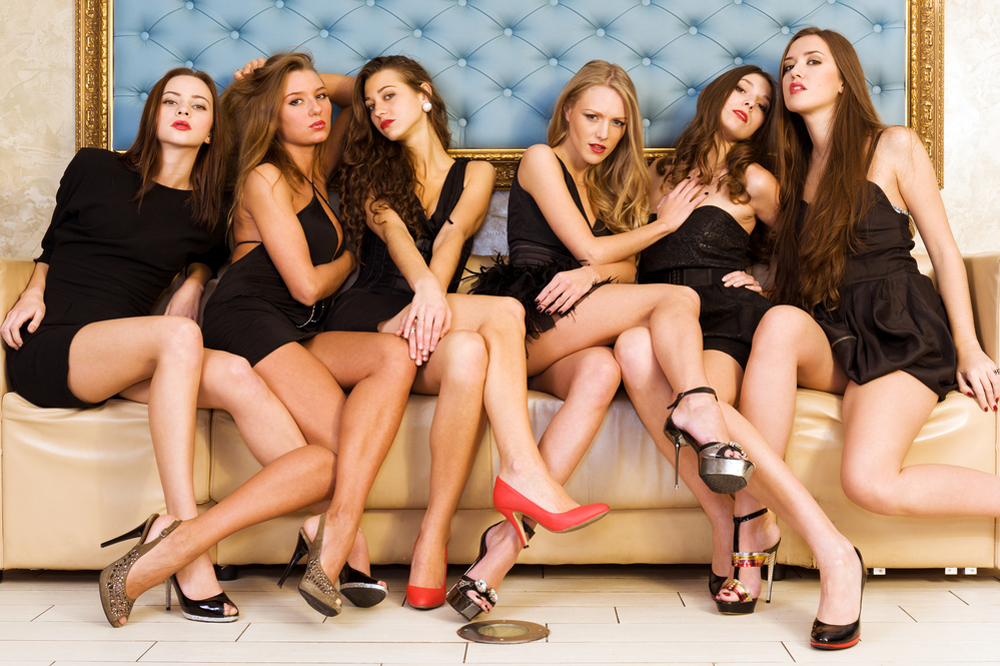 Group portrait of models