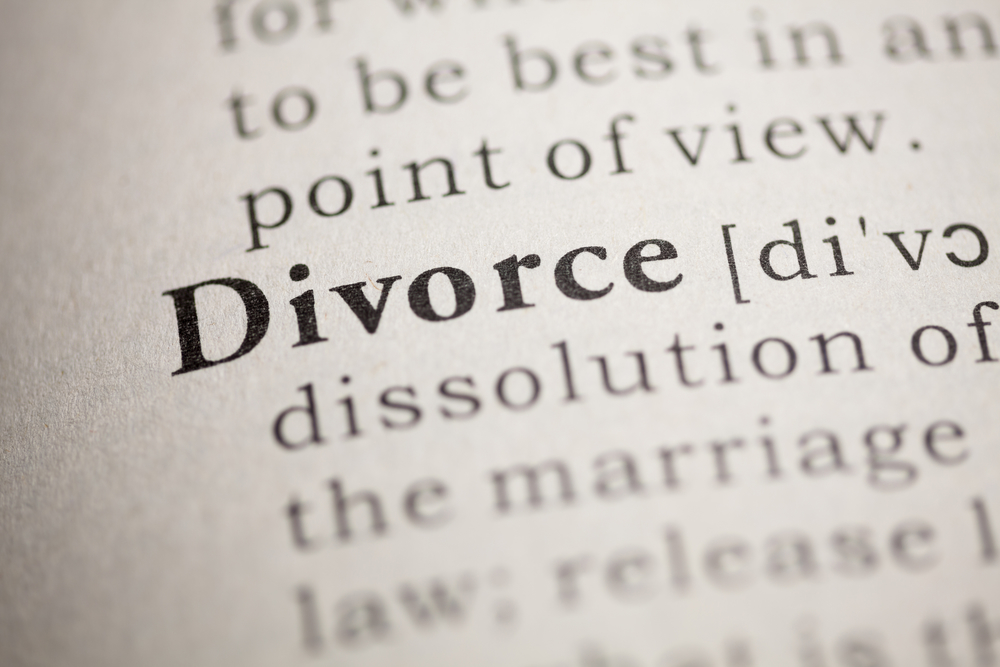 dictionary definition of when to divorce