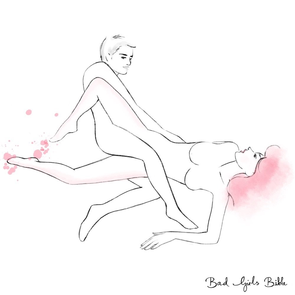 Scissor sex position in girls