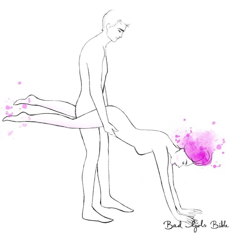 Sex position seated wheelbarrow