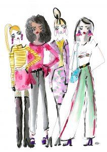 4 stylish women